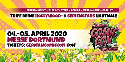 German Comic Con Dortmund Spring Edition 2020 - offiziell