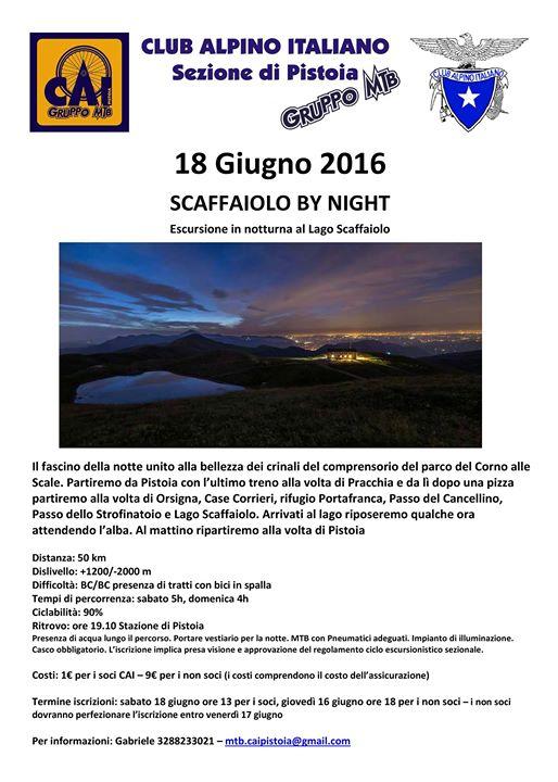 Escursione - SCAFFAIOLO BY NIGHT