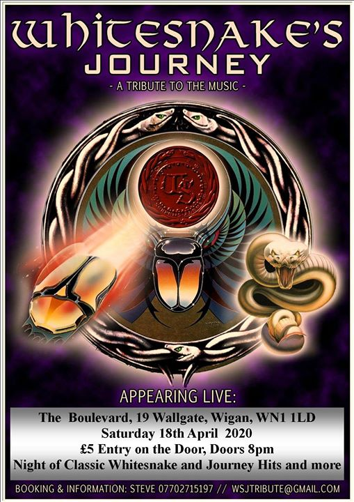 Whitesnake's Journey Live at The Boulevard Wigan WN1 1LD