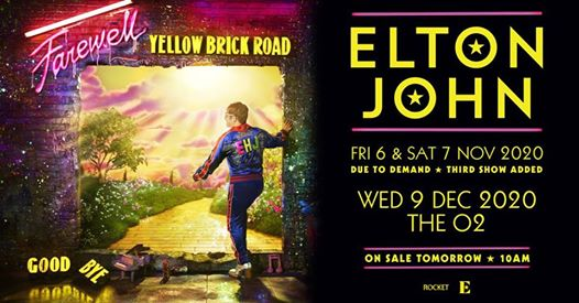 Elton John at The O2 arena