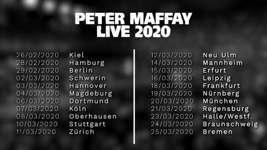 Peter Maffay - LIVE 2020   Kiel