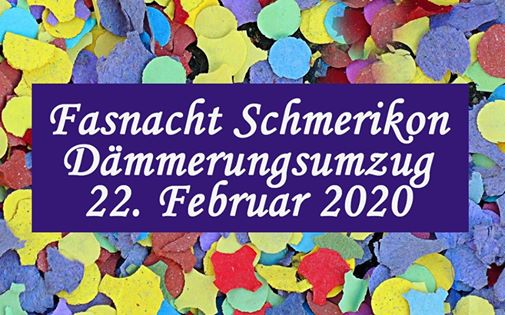 Dämmerungsumzug Samstag, 22. Februar 2020