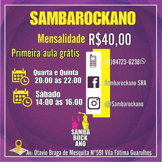 Aulas de samba rock Guarulhos